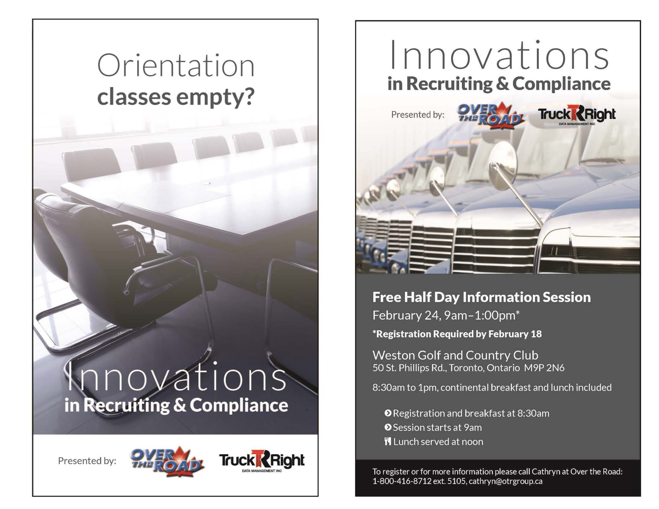 Over the Road, TruckRight, Innovations in Recruiting & Compliance, Transportation Industry